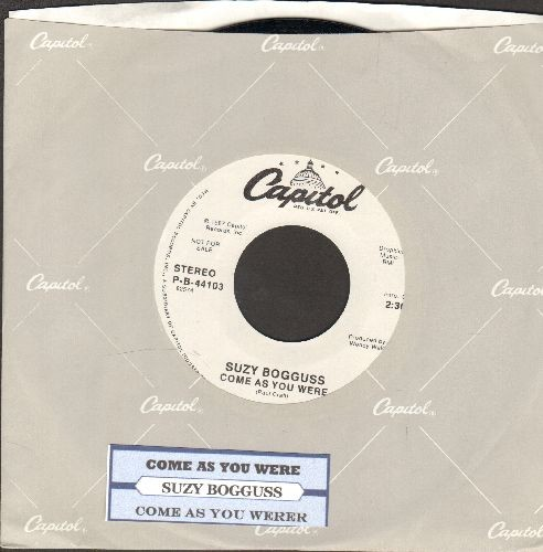 Bogguss, Suzy - Come As You Were (double-A-sided DJ advance pressing with juke box label and Capitol company sleeve) - NM9/ - 45 rpm Records