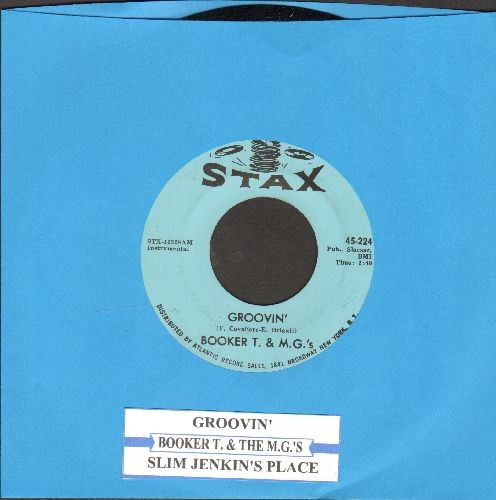 Booker T. & The M.G.'s - Groovin'/Slim Jenkin's Place (with juke box label) (minor wol) - NM9/ - 45 rpm Records
