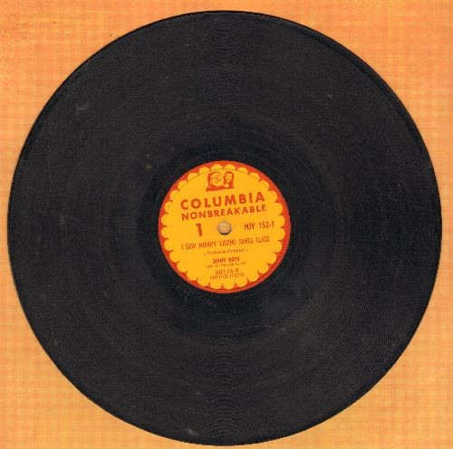 Boyd, Jimmy - I Saw Mommy Kissing Santa Claus/Thumbelina (10 inch 78 rpm record) - VG6/ - 78 rpm