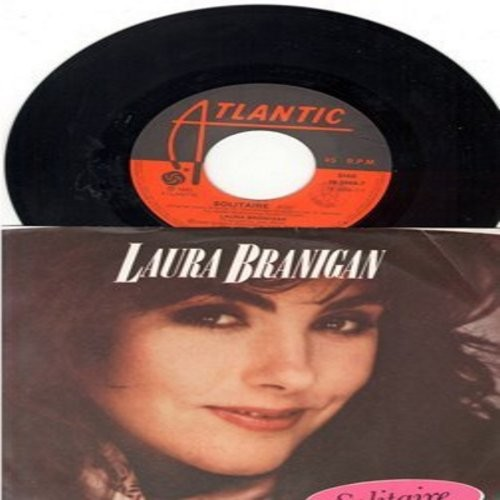 Branigan, Laura - Solitaire/I'm Not The Only One (Italian Pressing with picture sleeve) - NM9/EX8 - 45 rpm Records