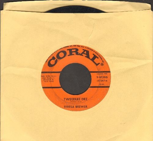 Brewer, Teresa - Tweedlee Dee/Rock Love (minor wol) - VG7/ - 45 rpm Records