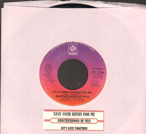 Brotherhood Of Man - Save Your Kisses For Me (WINNER Grand Prix D'Eurovision 1976!)/Let's Love Together (US Pressing with juke box label) - NM9/ - 45 rpm Records