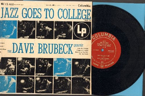 Brubeck, Dave Quartet - Jazz Goes To College - Vol. II: Take The A Train/I Want To Be Happy/Don't Worry 'Bout Me/The Song Is You (10 inch vinyl MONO LP record with picture cover) - NM9/EX8 - LP Records