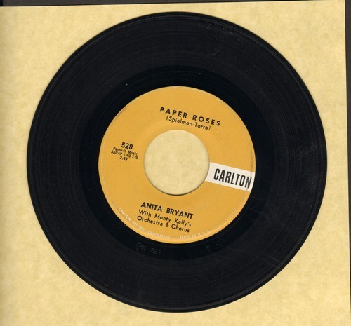 Bryant, Anita - Paper Roses/Mixed Emotions  - NM9/ - 45 rpm Records
