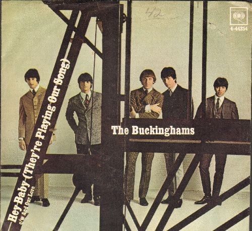 Buckinghams - Hey Baby (They're Playing Our Song)/And Our Love (with picture sleeve) - EX8/EX8 - 45 rpm Records