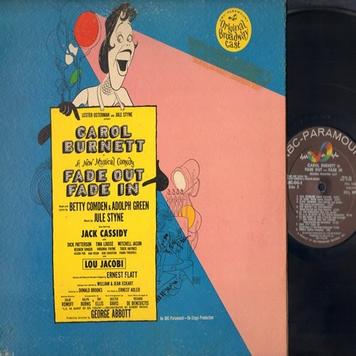 Burnett, Carol, Jack Cassidy, Tina Louise, Lou Jacobi, others - Fade Out Fade In - Original Broadway Cast Starring Carol Burnett (Vinyl MONO LP record) - NM9/VG7 - LP Records