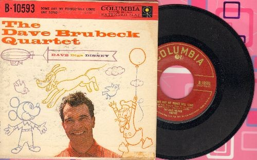 Brubeck, Dave Quartet - Dave Digs Disney: Some Day My Prince Will Come/One Song (vinyl EP record with picture cover) - EX8/VG7 - 45 rpm Records