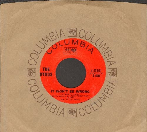 Byrds - It Won't Be Wrong/Set You Free This Time (with Columbia company sleeve) - NM0/ - 45 rpm Records