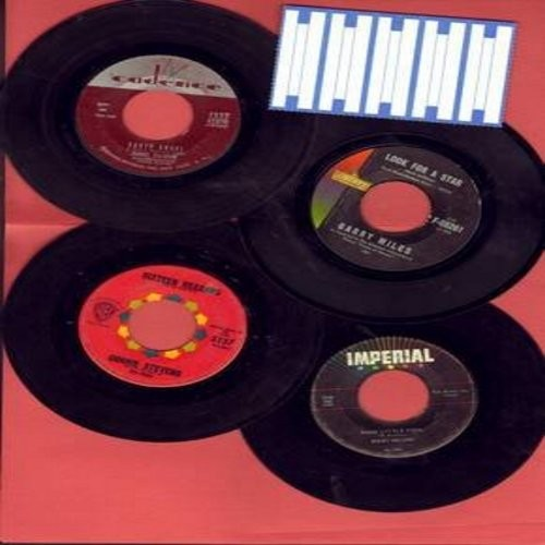 Tillotson, Johnny, Garry Miles, Connie Stevens, Ricky Nelson - Dreamy Oldies 4-Pack: 4 original vintage 45rpm records, all in very good or better condition, shipped in plain white sleeves with 5 blank juke box label. Hit titles include Earth Angel, Look F