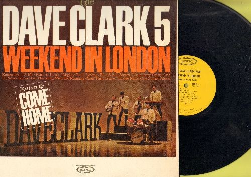 Clark, Dave Five - Weekend In London: Blue Suede Shoes, I'll Never Know, 'Til The Right One Comes Along, Little Bitty Pretty One, Mighty Good Loving (Vinyl mono LP record) - NM9/EX8 - LP Records