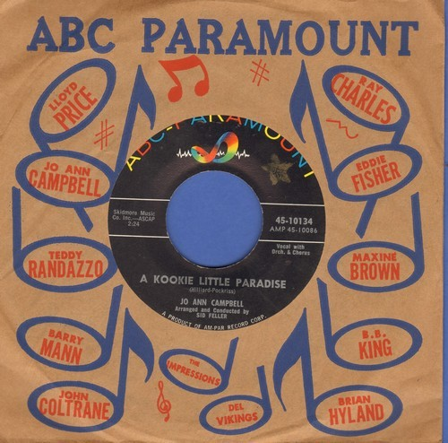 Campbell, Jo Ann - A Kookie Little Paradise/Bobby, Bobby, Bobby (with ABC-Paramount company sleeve) - NM9/ - 45 rpm Records