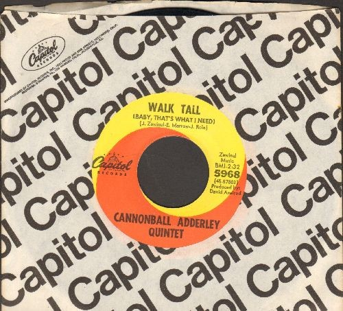 Adderley, Cannonball Quintet - Walk Tall (Baby, That's What I Need)/Do Do Do (What Now Is Next) (with vintage Capitol company sleeve) - NM9/ - 45 rpm Records