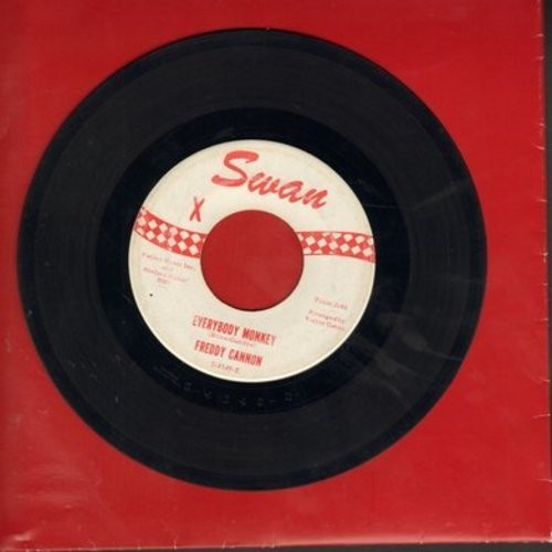 Cannon, Freddy - Everybody Monkey/Oh Gloria (FANTASTIC Love Ballad, OVERLOOKED GEM!) - EX8/ - 45 rpm Records