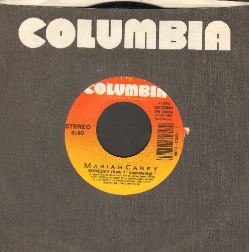 "Carey, Mariah - Someday (New 7"" Jackswing)/Alone In Love (with Columbia company sleeve) - NM9/ - 45 rpm Records"