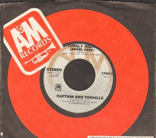 Captain & Tennille - Lonely Night (Angel Face)/Smile For Me One More Time (with A&M company sleeve) - NM9/ - 45 rpm Records
