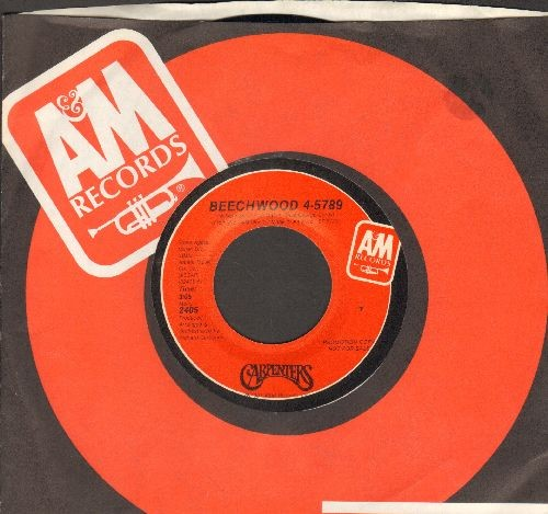 Carpenters - Beechwood 4-5789 (doube-A-sided DJ advance pressing with Original A&M company sleeve) - M10/ - 45 rpm Records