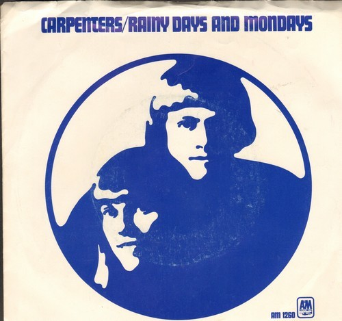 Carpenters - Rainy Days And Mondays/Saturday (with picture sleeve) - EX8/VG7 - 45 rpm Records