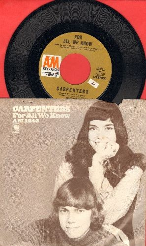 Carpenters - For All We Know/Don't Be Afraid (with picture sleeve sleeve) - NM9/EX8 - 45 rpm Records