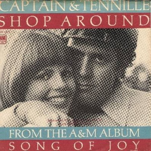 Captain & Tennille - Shop Around/Butterscotch Castle (with picture sleeve) - NM9/EX8 - 45 rpm Records