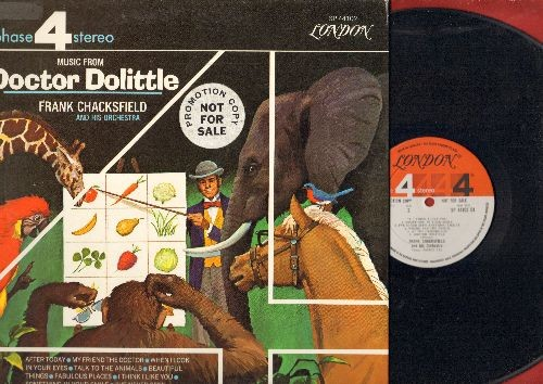 Chacksfield, Frank & His Orchestra - Music From Doctor Dolittle (vinyl STEREO LP record, gate-fold cover, RARE DJ advance pressing) - NM9/NM9 - LP Records