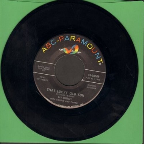 Charles, Ray - That Lucky Old Sun/Ol' Man Time (with juke box label) - EX8/ - 45 rpm Records