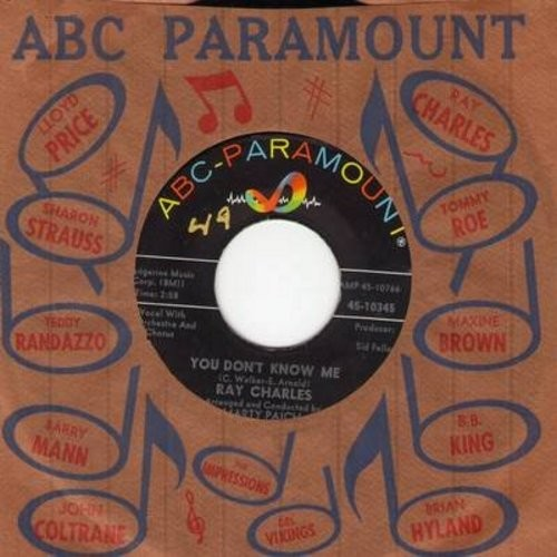 Charles, Ray - You Don't Know Me/Careless Love (with vintage ABC-Paramount company sleeve) - NM9/ - 45 rpm Records
