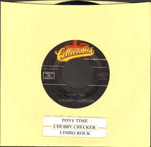 Checker, Chubby - Pony Time/Limbo Rock (double-hit re-issue with juke box label) - NM9/ - 45 rpm Records