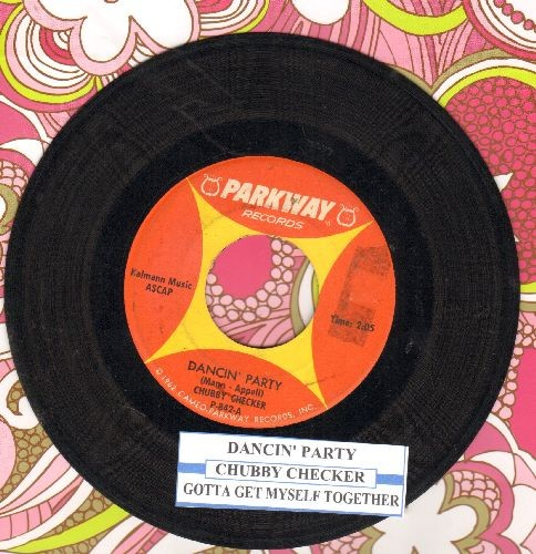 Checker, Chubby - Dancin' Party/Gotta Get Myself Together (with juke box label) - EX8/ - 45 rpm Records