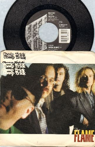 Cheap Trick - The Flame/Through The Night (with picture sleeve) - NM9/EX8 - 45 rpm Records