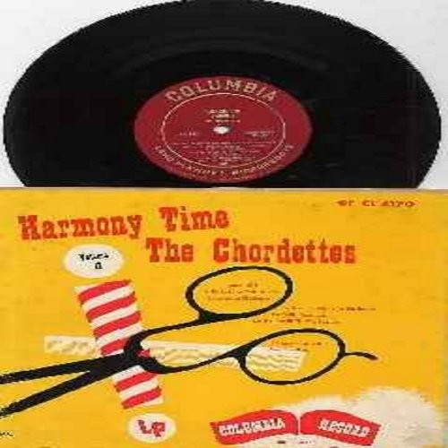 Chordettes - Harmony Time - Original 1951 First Issue 10 inch mini-LP, red label, Microgroove, featuring 8 titles, includes Running Wild, Alice Blue Gown, Love Me And The World Is Mine. RARE Collectable! - VG7/VG7 - LP Records