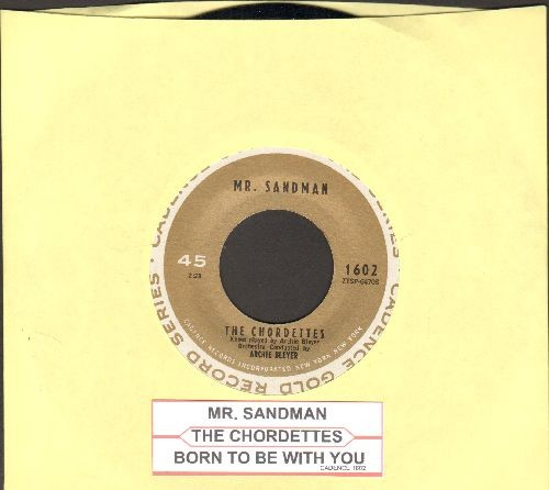 Chordettes - Mr. Sandman/Born To Be With You (with juke box label) - NM9/ - 45 rpm Records