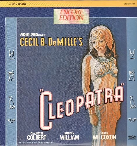 Cleopatra - Cleopatra - LASER DISC Version of the 1934 Cecil B. DeMille Classic starring Claudette Colbert! (This is a LASER DISC, not any other kind of media!) - NM9/NM9 - LaserDiscs