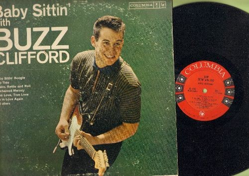 Clifford, Buzz - Baby Sittin' With Buzz: Unchained Melody, I'm In Love Again, Long Tall Sally, Ebb Tide, Hello Mr. Moonlight (Vinyl MONO LP record) - EX8/VG6 - LP Records