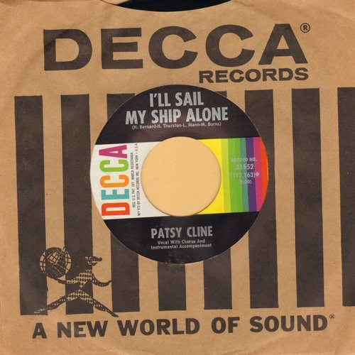 Cline, Patsy - When You Need A Laugh/I'll Sail My Ship Alone (with Decca company sleeve) (bb) - NM9/ - 45 rpm Records