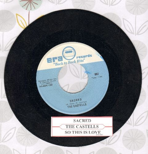 Castells - Sacred/So This Is Love (early double-hit re-issue with juke box label) - NM9/ - 45 rpm Records