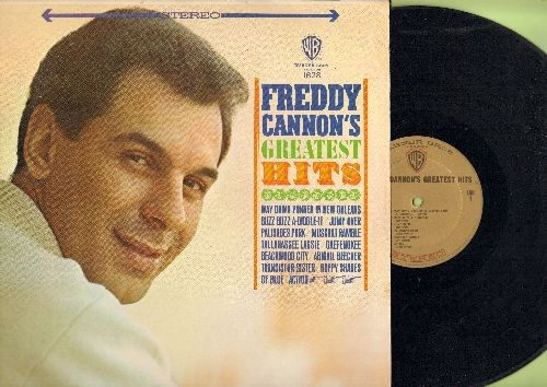 Cannon, Freddy - Freddy Cannon's Greatest Hits: Palisades Park, Tallahassee Lassie, Transister Sister, Action, Beachwood City (vinyl STEREO LP record) - EX8/EX8 - LP Records