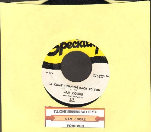 Cooke, Sam - I'll Come Running Back To You/Forever (with juke box label) - EX8/ - 45 rpm Records