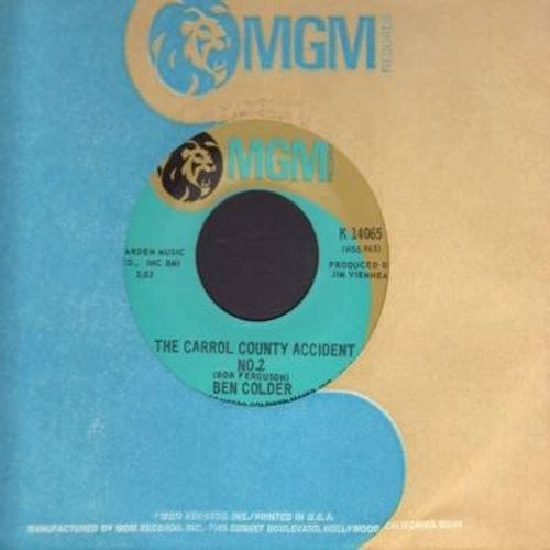 Colder, Ben - The Carrol County Accident No. 2/His Lincoln's Parked At Magie's Again (with MGM company sleeve) - NM9/ - 45 rpm Records