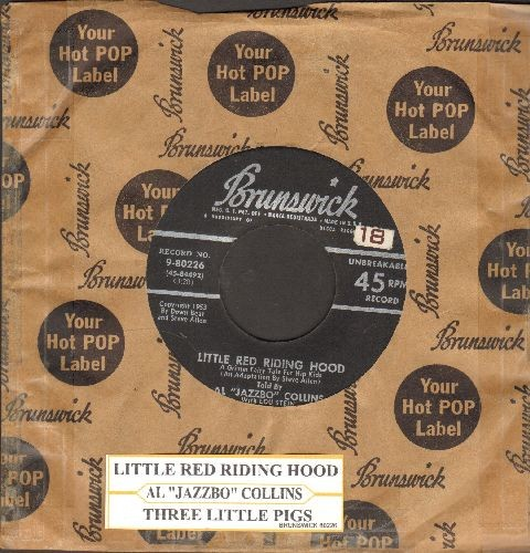 Collins, Al Jazzbo - Little Red Riding Hood/Three Little Pigs (1953 black label first pressing with juke box label) - VG7/ - 45 rpm Records