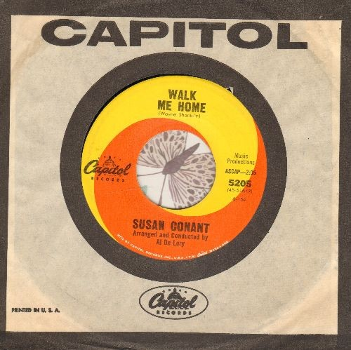 Conant, Susan - Walk Me Home (ENCHANTING 60s Girl-Sound Love Ballad)/Little Boy Lost (near mint vinyl condition, label blemish on B-side) (with vintage Capitol company sleeve and juke box label)) - EX8/ - 45 rpm Records