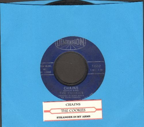 Cookies - Chains/Stranger In My Arms (with juke box label) - VG7/ - 45 rpm Records
