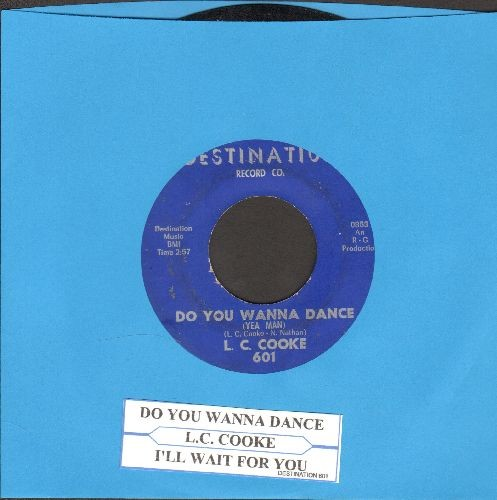 Cooke, L. C. - Do You Wanna Dance/I'll Wait For You (with juke box label) - EX8/ - 45 rpm Records