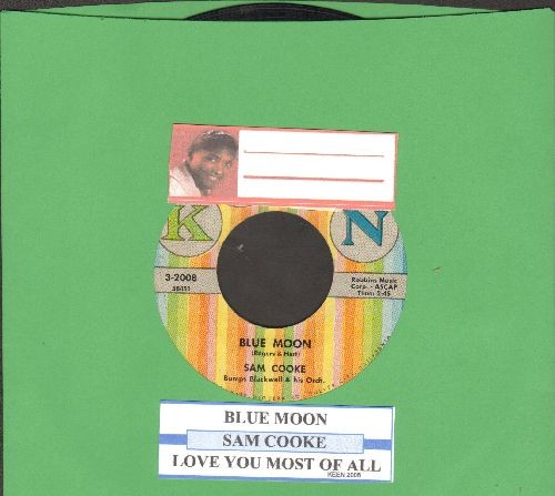 Cooke, Sam - Blue Moon/Love You Most Of All (with juke box label, sol) - EX8/ - 45 rpm Records