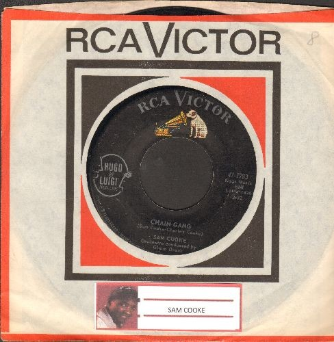 Cooke, Sam - Chain Gang/I Fall In Love Every Day (with RCA company sleeve) - EX8/ - 45 rpm Records