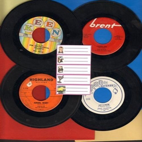 Skip & Flip, Rosie & The Originals, Sam Cooke, Jimmy Clanton - Dreamy Oldies 4-Pack: First issue Hit 45s include Cherry Pie, Angel baby, Just A Dream and For Sentimental Reasons. Shipped in white sleeves with 5 blank juke box labels. - EX8/ - 45 rpm Recor