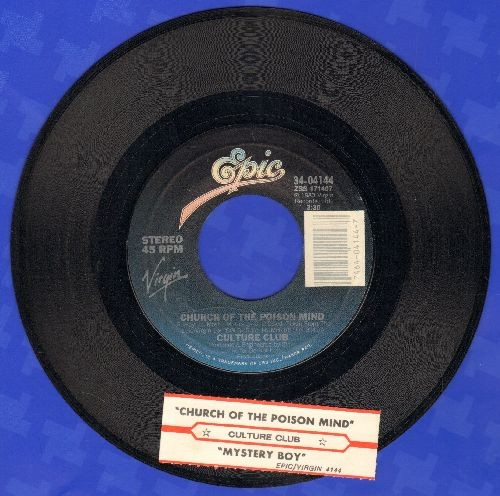 Culture Club - Church Of The Poison Mind/Mystery Boy (with juke box label) - EX8/ - 45 rpm Records