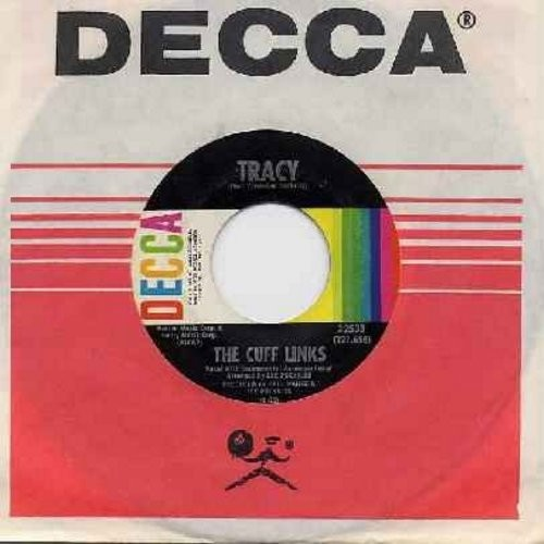 Cuff Links - Tracy/Where Do You Go? (with Decca company sleeve) - NM9/ - 45 rpm Records