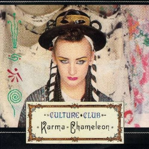 Culture Club - Karma Chameleon/That's The Way (with picture sleeve) - NM9/EX8 - 45 rpm Records