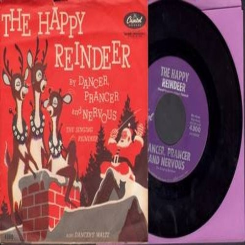 Dancer, Prancer And Nervous - The Happy Reindeer/Dancer's Waltz (with RARE picture sleeve) - NM9/EX8 - 45 rpm Records