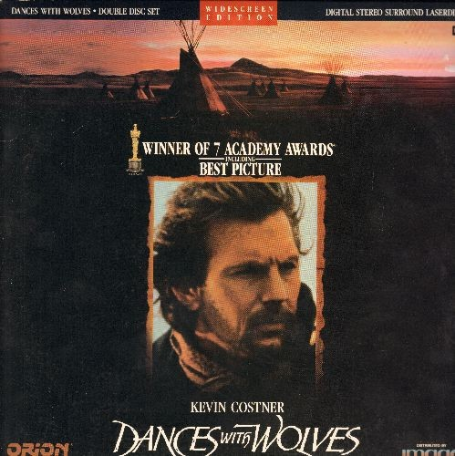 Dances With Wolves - Dances With Wolves - Winner of 7 Academy Awards, including Best Picture, 2 LASERDISC set in gate-fold cover (These are LASERDISCS, not any other kind of media!) - NM9/EX8 - LaserDiscs
